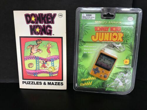 Vintage Donkey Kong Junior Keychain Game & Donkey Kong Puzzle Book