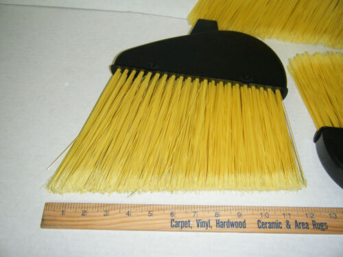Lot of 6 Angle Broom Heads National Brand 12 inch Sweep Janitorial