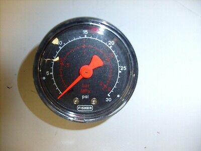 Fisher Psi  Pressure Gauge 0-30psi 2in