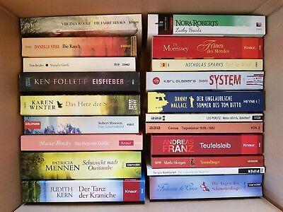 20 Taschenbücher Romane - Konvolut Buch Bücher Buchpaket - Sonderpreis