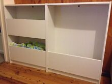 2 LOW BOOKSHELVES - IKEA BILLY - WHITE - 1 YEAR OLD Chatswood West Willoughby Area Preview