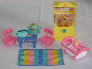 FISHER PRICE LOVING FAMILY DOLL HOUSE FUN TIME PLAYROOM Inala Brisbane South West Preview