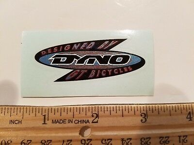 OLD SCHOOL BMX DYNO STICKERS DECAL NOS ON CLEAR