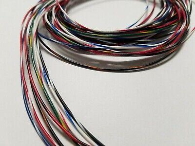 26 Awg Gauge Stranded Hook Up Wire Kit 5 Ft Ea 8 Color W Stripe Ul1007 300 Volt