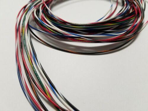 26 AWG Gauge Stranded Hook Up Wire Kit 5 ft Ea 8 Color w/ stripe UL1007 300 Volt
