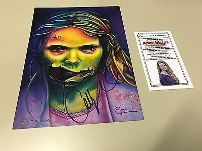 THE WALKING DEAD TEDDY BEAR GIRL SIGNED BY ADDY MILLER ](Girl Walking Dead)