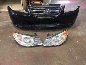 2007-2010 Hyundai Elantra headlamps&Bumper