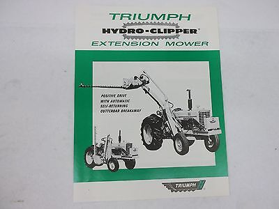 Triumph Hydro Clippers Extension Mower Brochure For International Harvesters