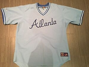 d6a386609 Majestic Atlanta Braves Cooperstown Pull-over Baseball Jersey