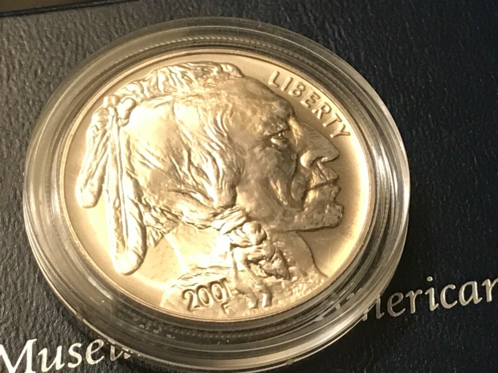 2001 American Buffalo Commemorative Coin, Uncirculated Silver Dollar 7 - $175.00