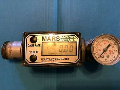 Gpi 1 Water Flow Meter Aluminum Body Used Tested