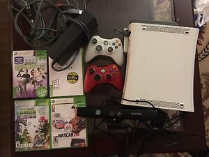 XBOX 360 with games. AVAILABLE