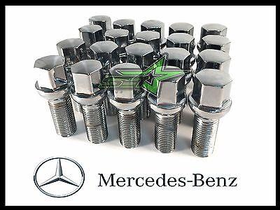 20PC Chrom Mercedes Benz Radbolzen 14x1.5 | 39MM Schaft ML350 S500 GLK350 S550