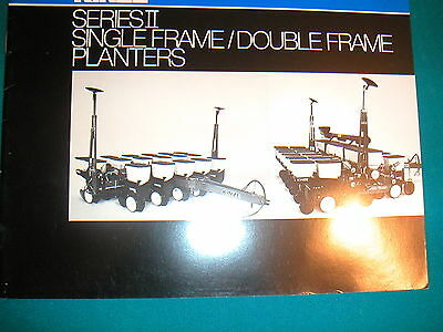 Kinze Series Ii Single Frame-double Frame Planter Vintage Color Brochure