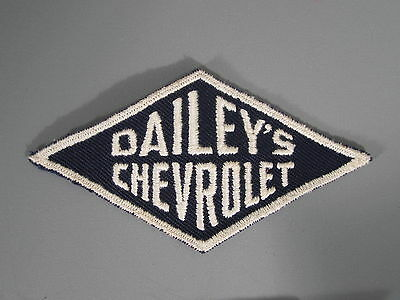 Dailey's Chevrolet Patch / New Old Stock of Closed Embroidery Company /FREE Ship