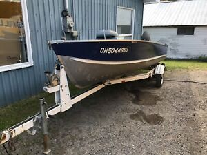 1985 16' Boat And trailer 1990's 30hp Mariner