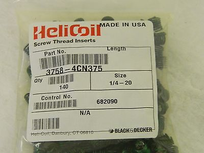 Heli-coil Stainless Steel Screw Locking Insert 14 - 20 Bag Of 170 3758-4cn375