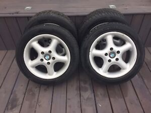 BMW ALLOY RIMS/WINTER TIRES