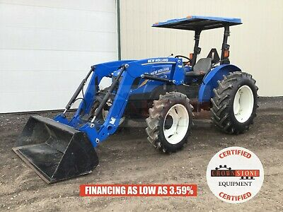 2016 New Holland 70 Workmaster Tractor W Loader 3 Pt 540 Pto 4x4 370 Hrs