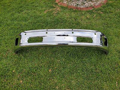 2016 Dodge Ram Front Lower Bumper 1500 Chrome Steel w/ fog light holes