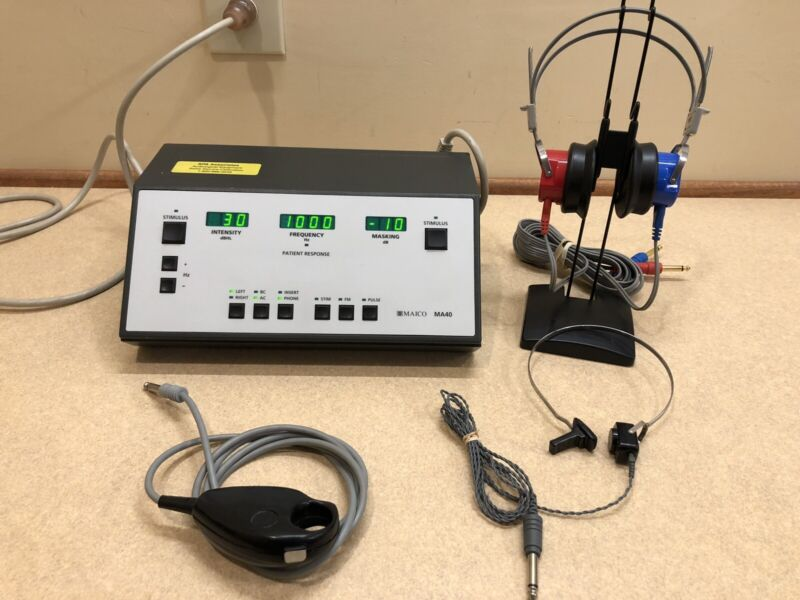Maico MA40 Audiometer w/Headphones, and Bone, with Current Calibration Cert.