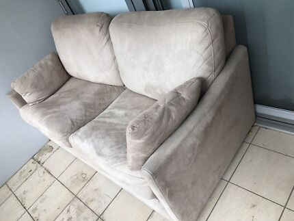 TWO SEATER SUEDE SOFA BED