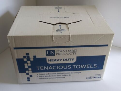 US Standard Products Heavy Duty Reusable  Shop Towels 160 Towels 12 x 17 NEW BOX
