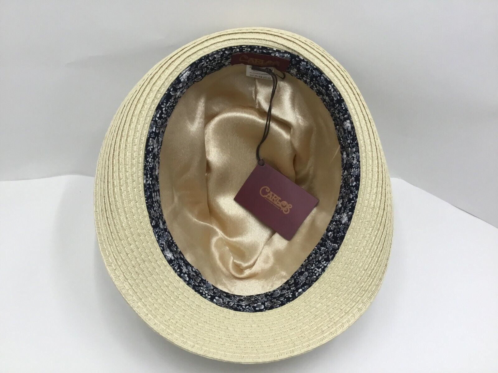 New with Tag Men's Carlos Santana DORSEY SAN 376 Straw Hat White / Beige Fedora Clothing, Shoes & Accessories