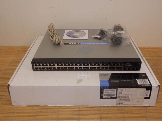 NEW Cisco Linksys SRW2048-EU 48x 10/100/1000 4x SFP Port Gigabit Switch NEU OVP