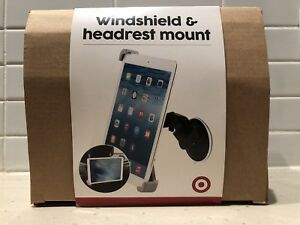 Target windshield and headrest mount for tablets. The Target Car Windshield  and Headrest Mount will secure your mobile ... a4bb493a4c385