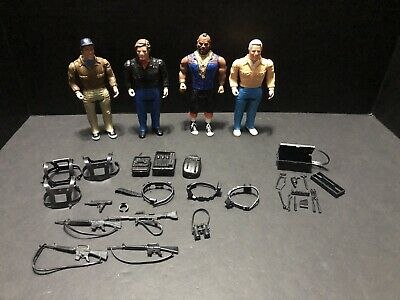 Vintage A-Team Figure Lot 1983  BARACUS FACE HANNIBAL MURDOCH With Accessories