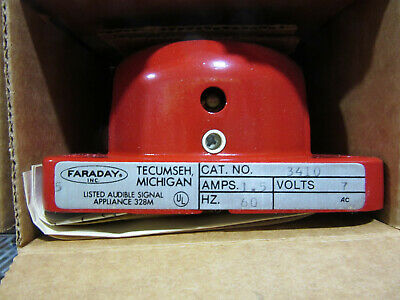 Faraday 3410 Red Bell Standard Electric Time Pn 009843 New In Factory Box
