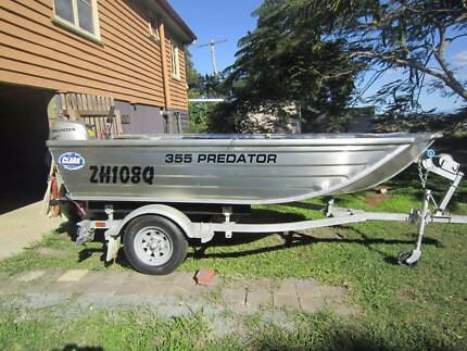 CLARK 355 PREDATOR , 10 HP HONDA 4 STROKE STILL UNDER WARRANTY