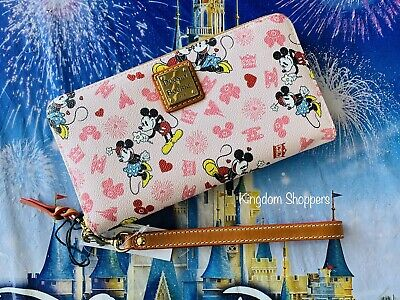 Disney Mickey Minnie Mouse Valentines Day Love Dooney & Bourke Wristlet Wallet D