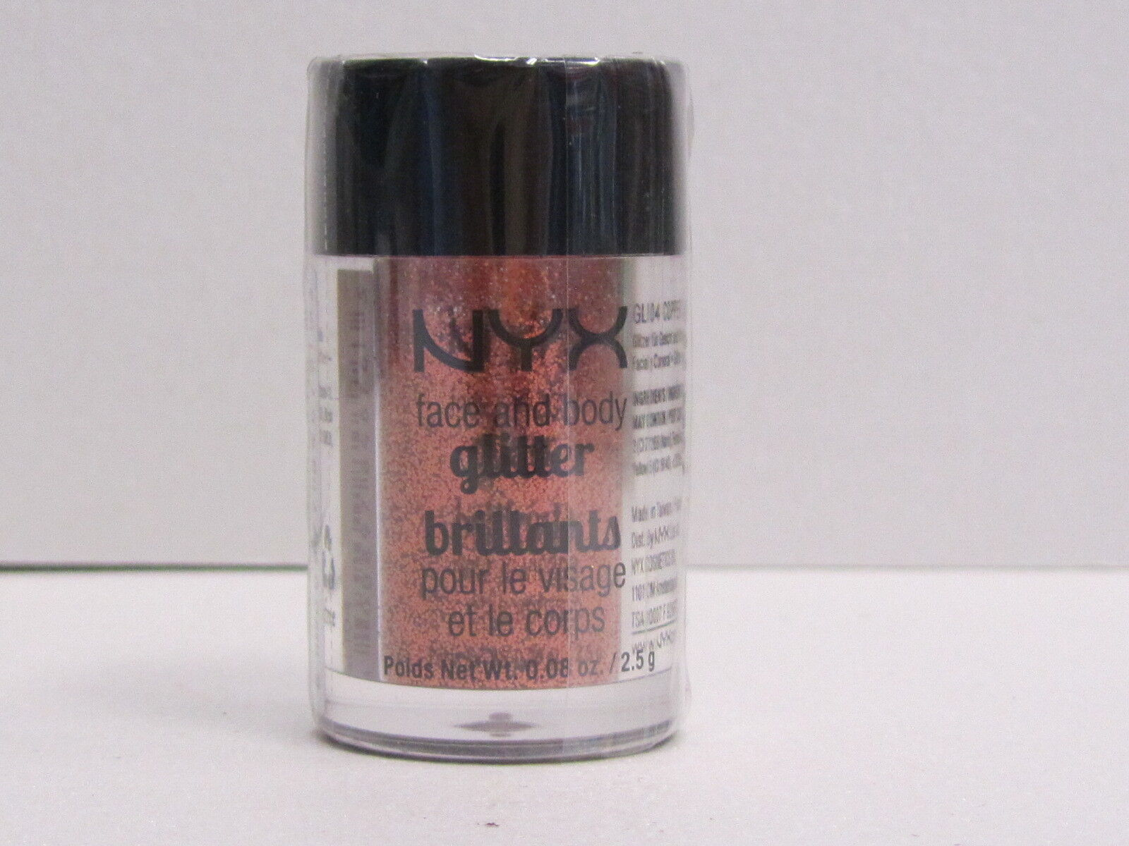 NYX Face and Body Glitter color GLI04 Copper 0.08 oz Brand New With Sealed