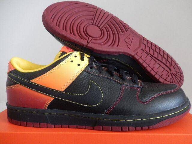Nike Nyx Dunk Low Mens Black Orange Red Shoes Size 11 | eBay