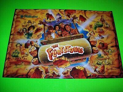Flintstones Pinball Machine Translite Game Artwork Original NOS Williams 1994