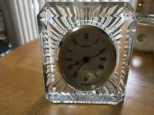 Staiger lead crystal clock