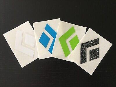 "Black Diamond Black Logo Sticker//Decal Vinyl Climbing Approx 3/"" x 4/"" Authentic!"