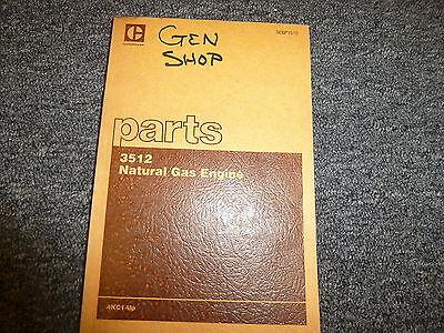 Caterpillar Cat 3512 Natural Gas Engine Parts Catalog Manual Book Sn 4kc1-up