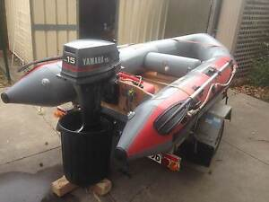 Achilles 3.5m with 15hp Yamaha and Premier trailer Somerton Park Holdfast Bay Preview