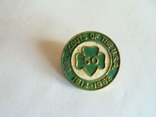 Vintage Girl Scouts of the USA 1912-1962 50th Anniversary Pin
