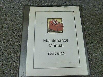 Grove Model Gmk 5130 Mobile Crane Shop Service Maintenance Repair Manual