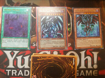 Yugioh Red eyes Black Metal Dragon Secret Rare PP01-EN015 Zobie Dragon World