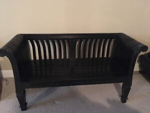 Solid wood Edward Black Mahogany bench
