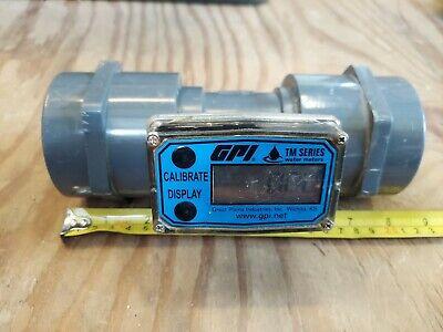 Water Meter Flomec Gpi Tm200-n 2 Tm Series Great Plains Ind. Pvc Turbine