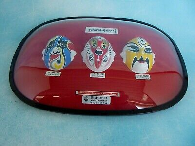 The Facial Types Of Chinese Opera Make Up Masks Framed Glass Wall (Types Of Frames Glasses)