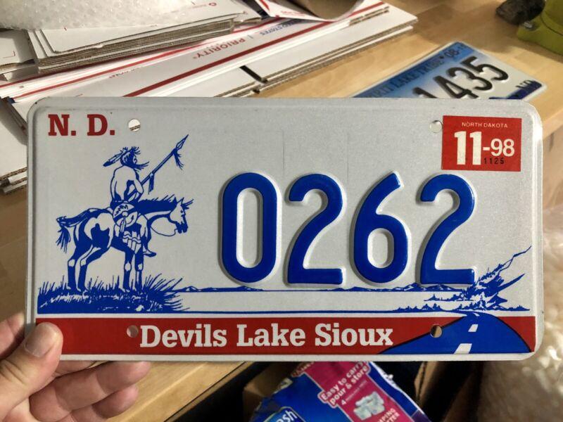 Devils Lake/ Spirit Lake Indian reservation License Plate Pair