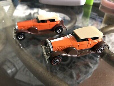 1977 Hot Wheels Redline Flying Colors Orange '31 Doozie Plus Blackwall die-cast
