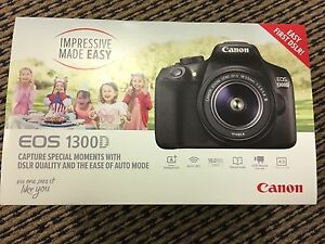 Brand New Canon 1300D with 18-55 kit lens Braddon North Canberra Preview